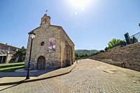 Church in Pedro Manrique. Soria. Spain. Europe.