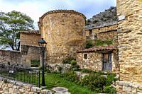 Rural houses in Aragosa. Guadalajara. Spain. Europe.