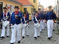 Drum Corps Celebrating Regatta Crews, Aeroskobing, Aero Island, Denmark.