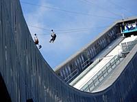 Olympic Ski Jump Used as Zipline in Summer, Lillehammer, Norway.