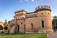 Porta Saragozza, one of the twelve gates of the ancient walls of Bologna, capital and largest city of the Emilia Romagna region in Northern Italy.