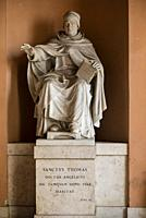 statue of St. Thomas Aquinas Angellicum University, Rome, Italy.