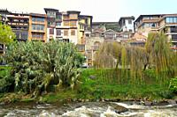 Cuenca and river Tomebamba, Ecuador.