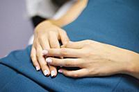 Woman hands.