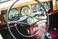 Internal vintage car.
