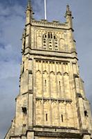 St John Baptist Parish Church Tower, Cirencester, England, UK.