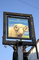 Shoulder of Mutton Pub Sign; Hazeley Heath, England; UK.