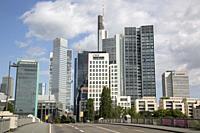 Modern Office Skyline; Frankfurt; Germany.