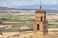 Iglesia parroquial de Santa María, siglo XVI, con fachada y sacristía del siglo XVII, Ausejo, La Rioja , Spain, Europe.