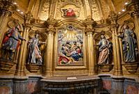 Retablo de los Reyes, estilo rococó, elaborado por Manuel Adán y Julián Martínez entre 1750 y 1757 con la colaboración de Andrés de Bolibe, catedral d...