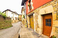 Typical Architecture, Old Town, Oñati, Oñate, Guipúzcoa, Basque Country, Spain, Europe.