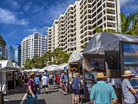Art & Craft show on the streets of downtown Sarasota, Florida, United States.