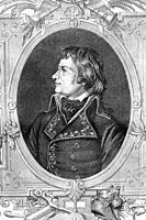 Laurent de Gouvion Saint-Zir. Marshal of France and marquis. French revolutionary wars. 1764-1830. Antique illustration. 1890.