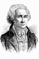 Jean-Etienne-Marie Portalis. French jurist and politician. 1746-1807. Antique illustration. 1890.