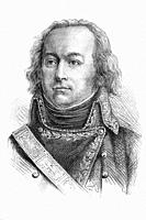 Claude Jacques Lecourbe. French general. Napoleonic wars. 1759-1815. Antique illustration. 1890.