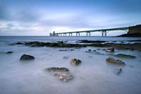 Clevedon Pier in the Severn Estuary, North Somerset, England.