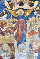 Frescoes, Church of St John the Baptist, UNESCO World Heritage Site, Yaroslavl, Golden Ring, Yaroslavl Oblast, Russia