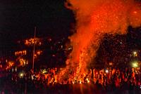 The large bonfire, or Demera during the celebration of Meskel, an annual religious holiday of the Ethiopian Orthodox Church which commemorates the dis...
