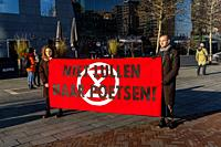 Rotterdam, Netherlands. XR | Extinction Rebellion Protest Rally against Climate Change and the inability of Governments to take nessesary measures.