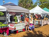 The Englewood Farmers Market an open air market in Englewood Florida.