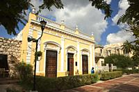 Colonial buildings at Paseo Del Montejo in the city center, Merida, Yucatan State, Mexico, Central America