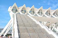 Stairs to Santago Calatrava's Museo de las Ciencias Principe Felipe, Ciudad de las Artes y las Ciencias, an architectural, cultural and entertainment ...