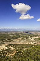 Plá de mallorca desde el santuario de Nuestra Senyora de Cura. Algaida, Pla de Mallorca. Mallorca. Islas baleares. España.