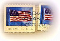 "USA, """"Forever/ USA"""" on a stamp,."