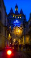"""France, Nouvelle Aquitaine, Gironde, """"""""Grosse Cloche"""""""" on """"""""Porte Saint Eloï"""""""" gate at Bordeaux. Pilgrimage way to Santiago de Compostela."""