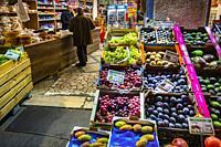 """France, Nouvelle Aquitaine, Gironde, """"""""Ulker Market"""""""" on Saint Michel area, at Bordeaux."""
