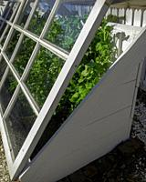Cold Frame allowing peas to be grown in winter Colonial Williamsburg.