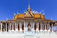 The Silver Pagoda At The Royal Palace, Phnom Penh, Cambodia.