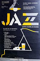 5 International Jazz Festival Madrid 1984, Musical concert poster.