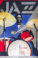 7 Festival Jazz Madrid, 1986 Musical concert poster.