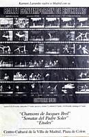 Ballet Contemporain de Bruxelles with Karmen Larumbe, Madrid 1983, Poster.