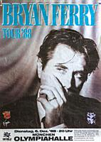 Bryan Ferry in Munich 1988, Musical concert poster.