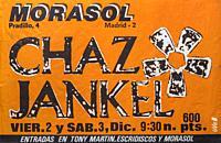 Chaz Jankel, Morasol Madrid 1983, Musical concert poster.