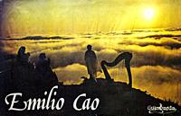Emilio Cao, Galician folk harpist promo 1980 poster.