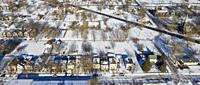 Detroit, Michigan - Huge sections of vacant land characterize many Detroit neighborhoods despite the downtown renaissance. The city's population has f...