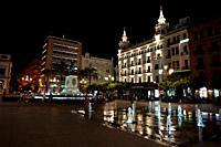 Plaza de las Tendillas in the evening. City of Cordoba, Andalucia, Spain, Europe.