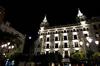 Palacio Colomera Hotel. Plaza de las Tendillas in the evening. City of Cordoba, Andalucia, Spain, Europe.