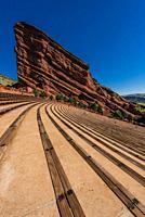 Red Rocks Amphitheatre, Morrison, Colorado USA. The amphitheatre in a world famous concert venue.