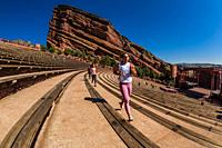 Red Rocks Amphitheatre is not only a world-famous concert venue, it is also a very popular place to work out. Runners can run the stairs either vertic...