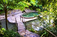 Swimmingpool in the tropical nature of Topes de Collantes, Trinidad, Republic of Cuba, Caribbean, Central America.