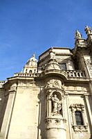 Angled image of the Cathedral of Murcia, Murcia, Spain.