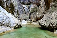 Narrowness areas of Parrisal near Beceite, Matarraña region, Teruel, Aragon, Spain