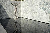 The Barcelona Pavilion, designed by Ludwig Mies van der Rohe and Lilly Reich as the German National Pavilion for the 1929 Barcelona International Exhi...