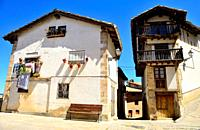 Small square of Peñarroya de Tastavins, Teruel, Spain.