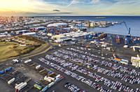 Reykjavik Harbor, shipping port, Reykjavik, Iceland.