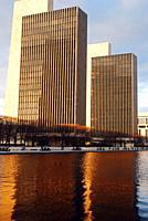 The legislative offices of the state workers in Empire Plaza, Albany, New York.